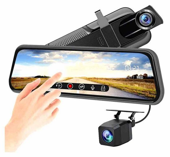 mirror, recorder, working, rearview, camera