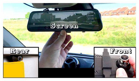 rear, view, camera, recorder
