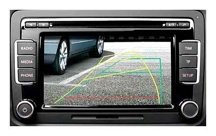 Rear view camera with parking sensors